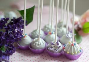 Cake Pop Pralinen Vogelkäfig Blüten Zucker Lila Lavendel Perlen Geschenk Präsent Geburtstag