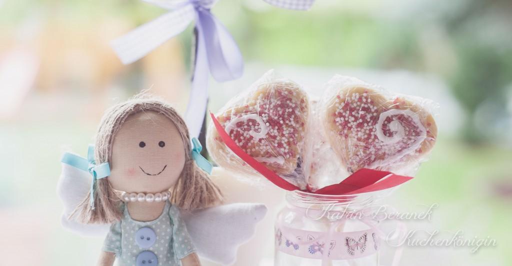 Keks Cookie am Stil Liebe Herzen Marmelade Perlen Hochzeit Taufe Kinder