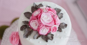 Kuchenkönigin Liebe Hochzeit Verlobung Kuchen Torte Bouquet Zucker Rosen Mint Rosa