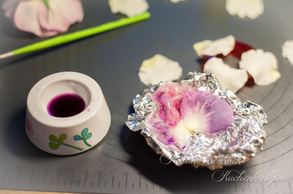 Rose Fondant Blüten Tutorial Torte Kuchenkönigin Blue for you