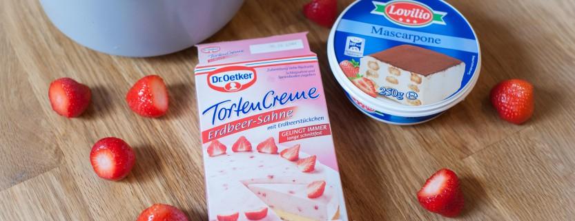 Erdbeer-Mascarpone-Torte Kuchenkönigin Tortencreme