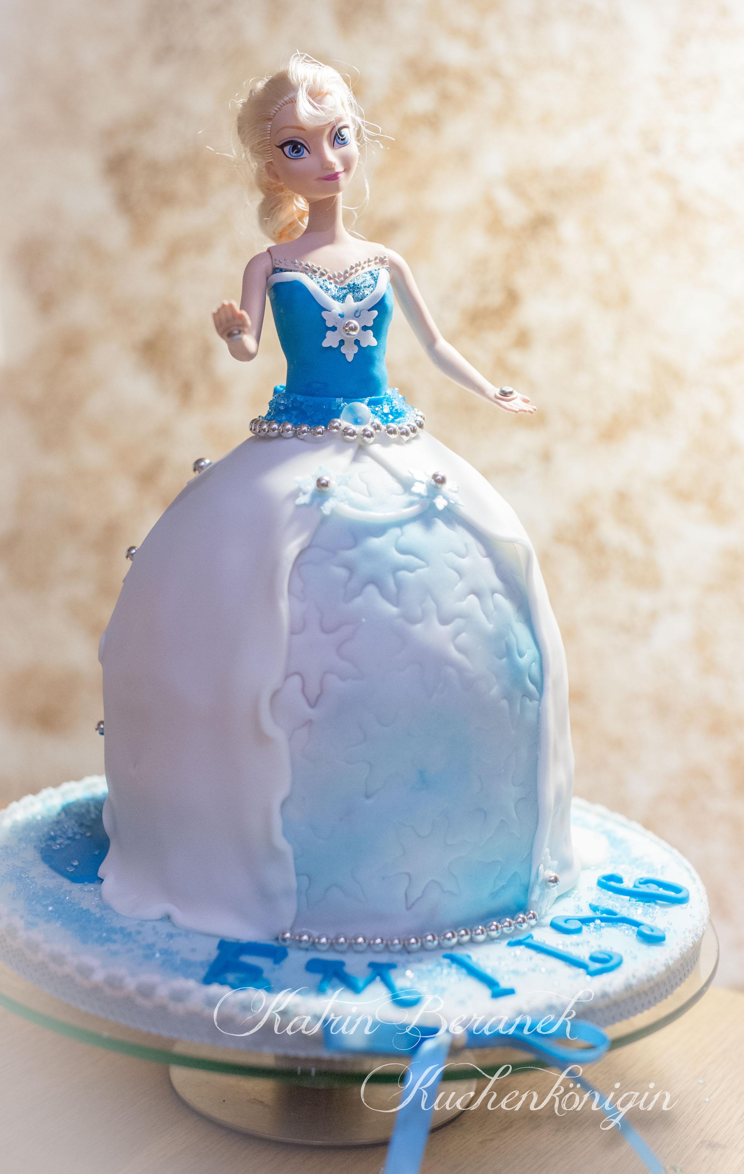 Kuchenkönigin Cake Board Tutorial Frozen Emily Disney Elsa Barbie