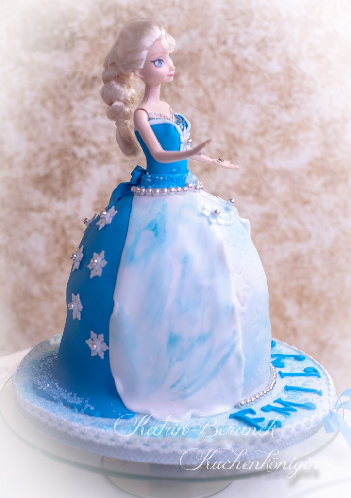 Kuchenkönigin Cake Board Tutorial Frozen Emily Disney Elsa Barbie