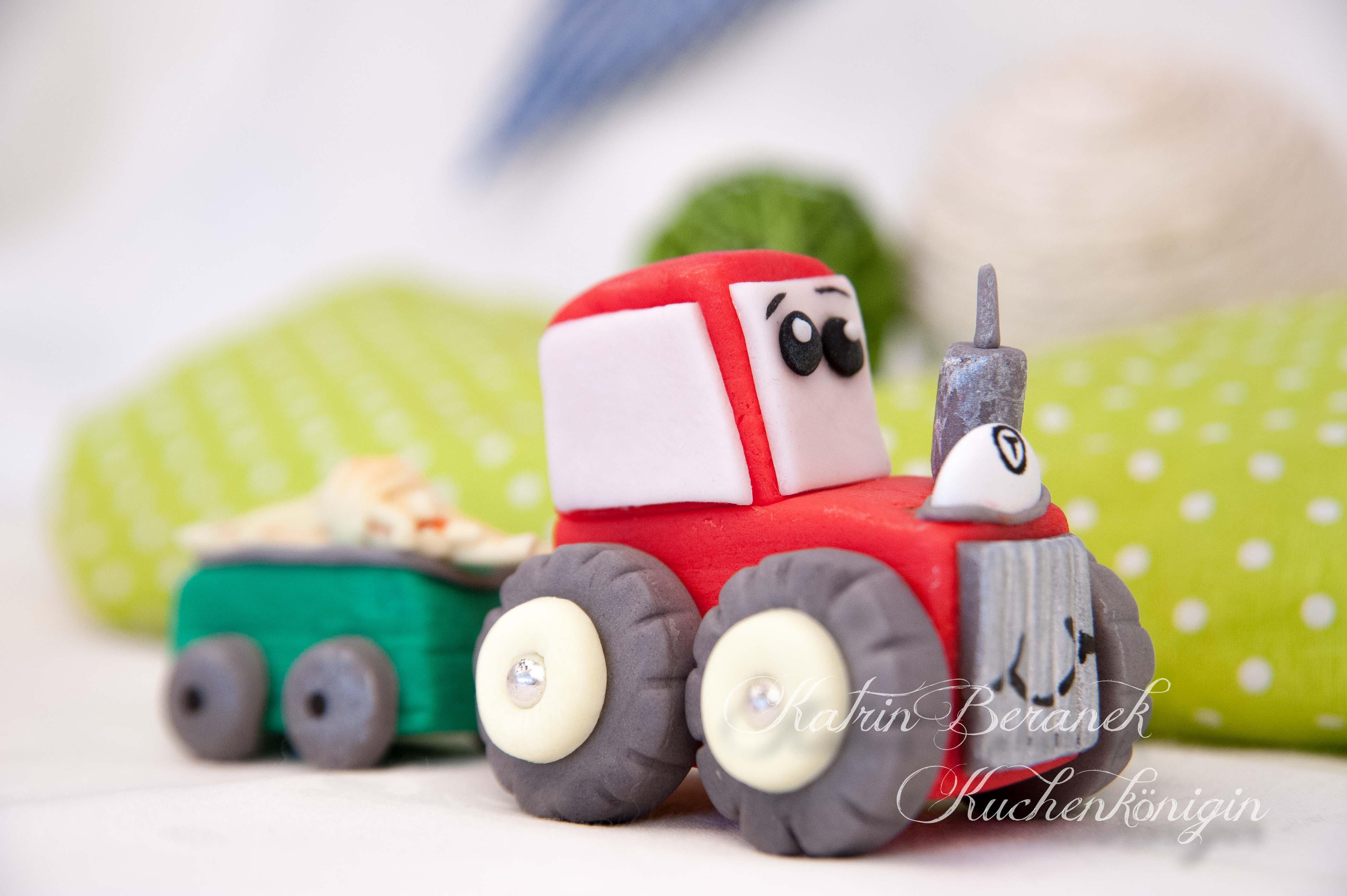 Kleiner Roter Traktor Fondant Cake Topper Tutorial