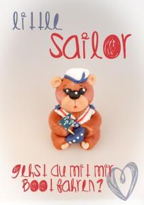 Kuchenkönigin Seebär Sailor Kinder Kindergeburtstag Nautisch Meer See Sea Navy Bear Teddy
