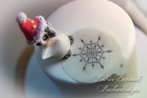 Kuchenkönigin Cake Stencil Tutorial Kuchen Dekorieren Backen Torte Schneeflocken Pinguin Winter Eis Ice