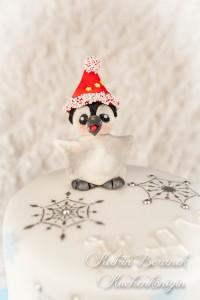 Kuchenkönigin Cake Stencil Tutorial Kuchen Dekorieren Backen Torte Schneeflocken Pinguin Winter Eis Ice