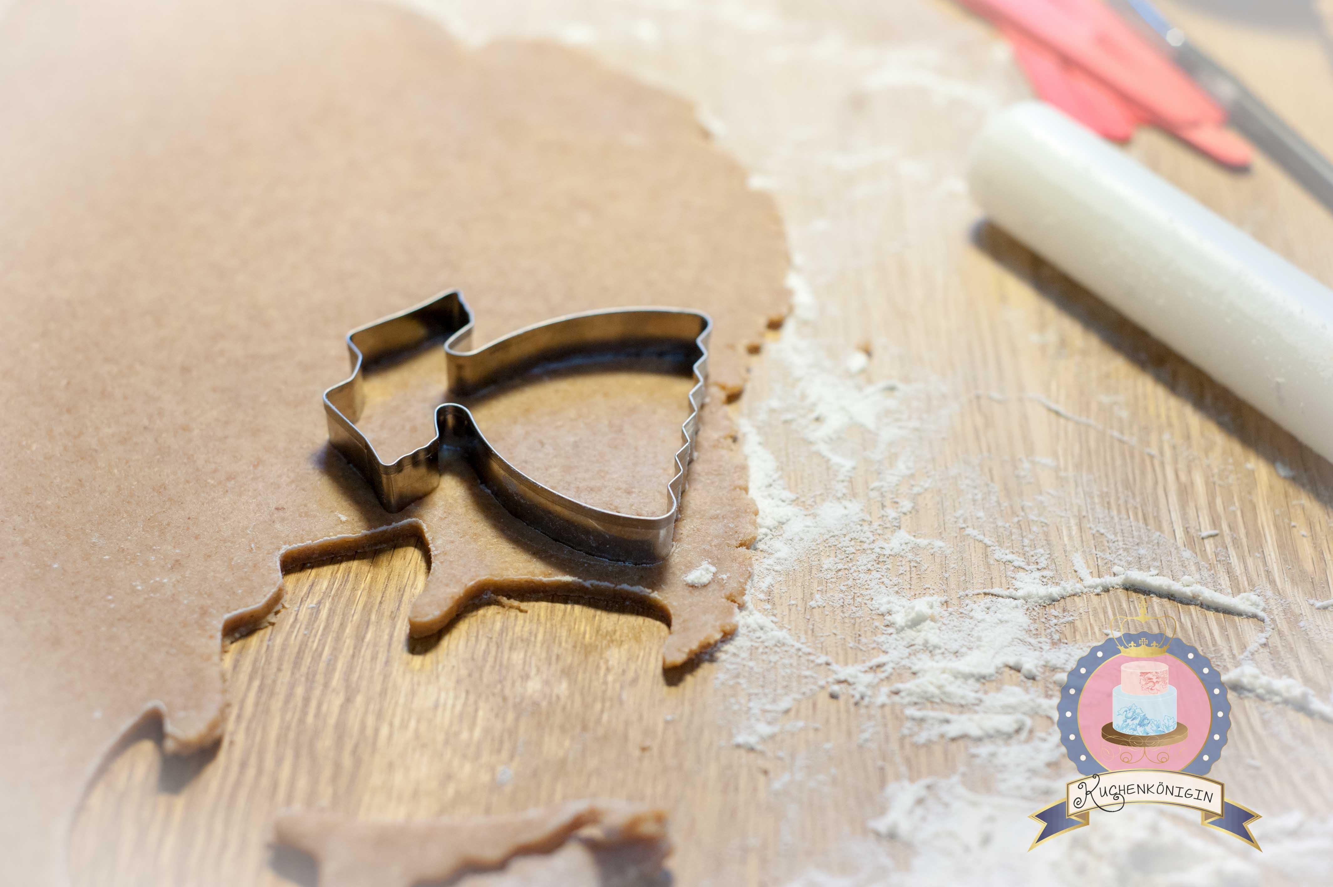 Kuchenkönigin Bio Dinkel Vollkorn Feigen Kekspops Kekse am Stil Cookies Rezept Tutorial Backen