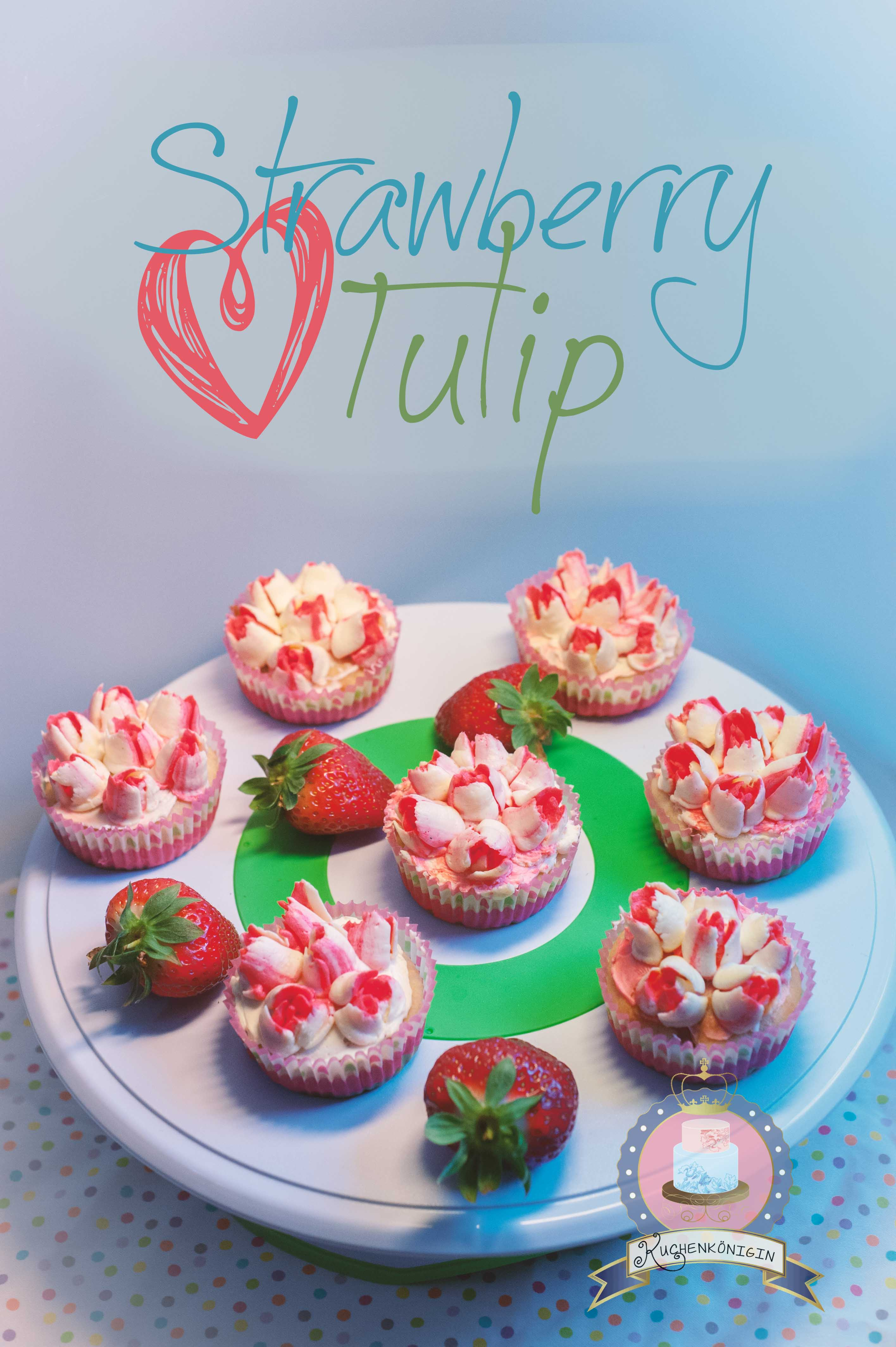 Erdbeer-Sahne Cupcakes