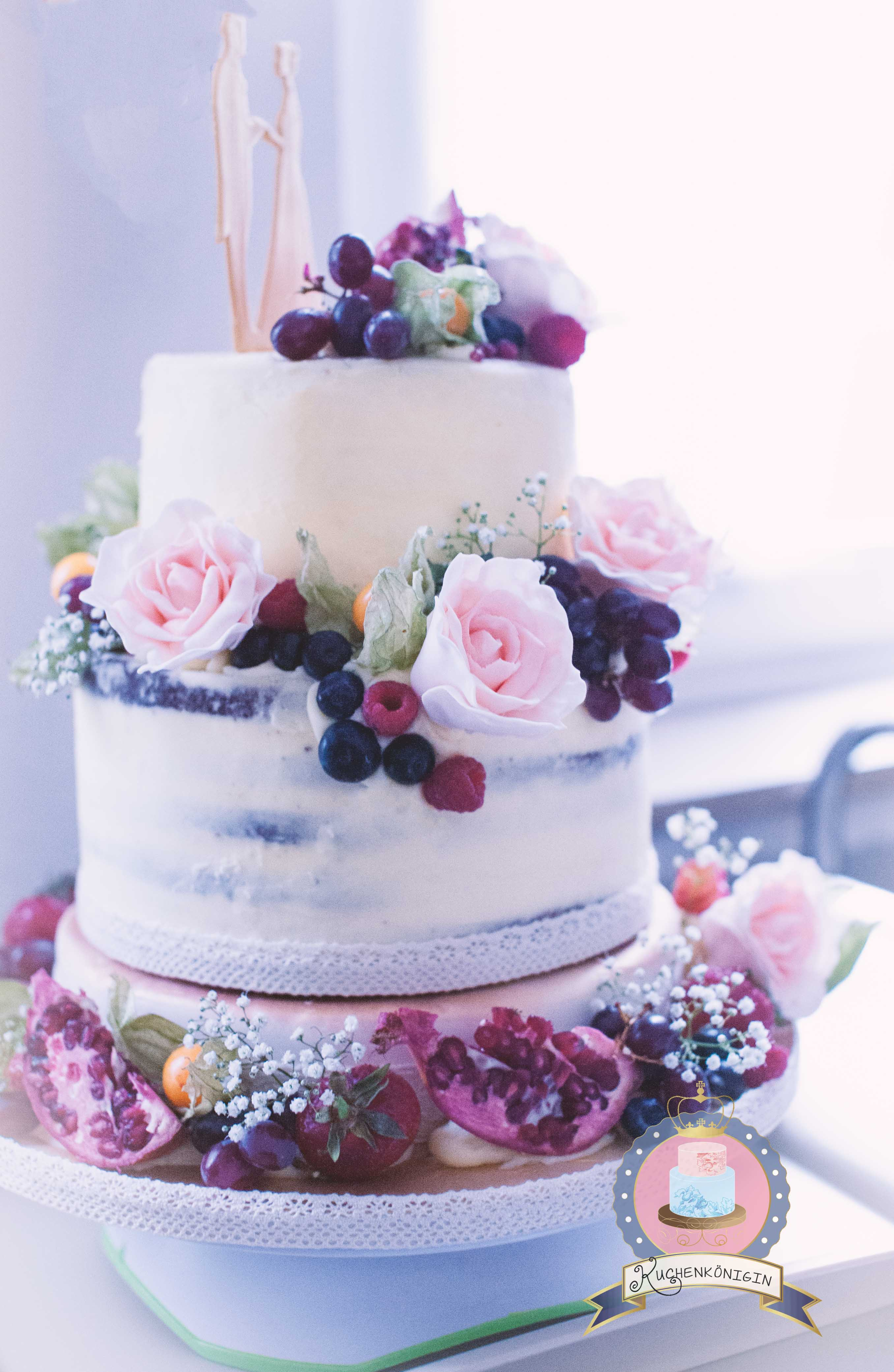 Romantic Naked Cake Nude Torte Hochzeitstorte Tutorial Rezept Backen Hochzeit Liebe Natur