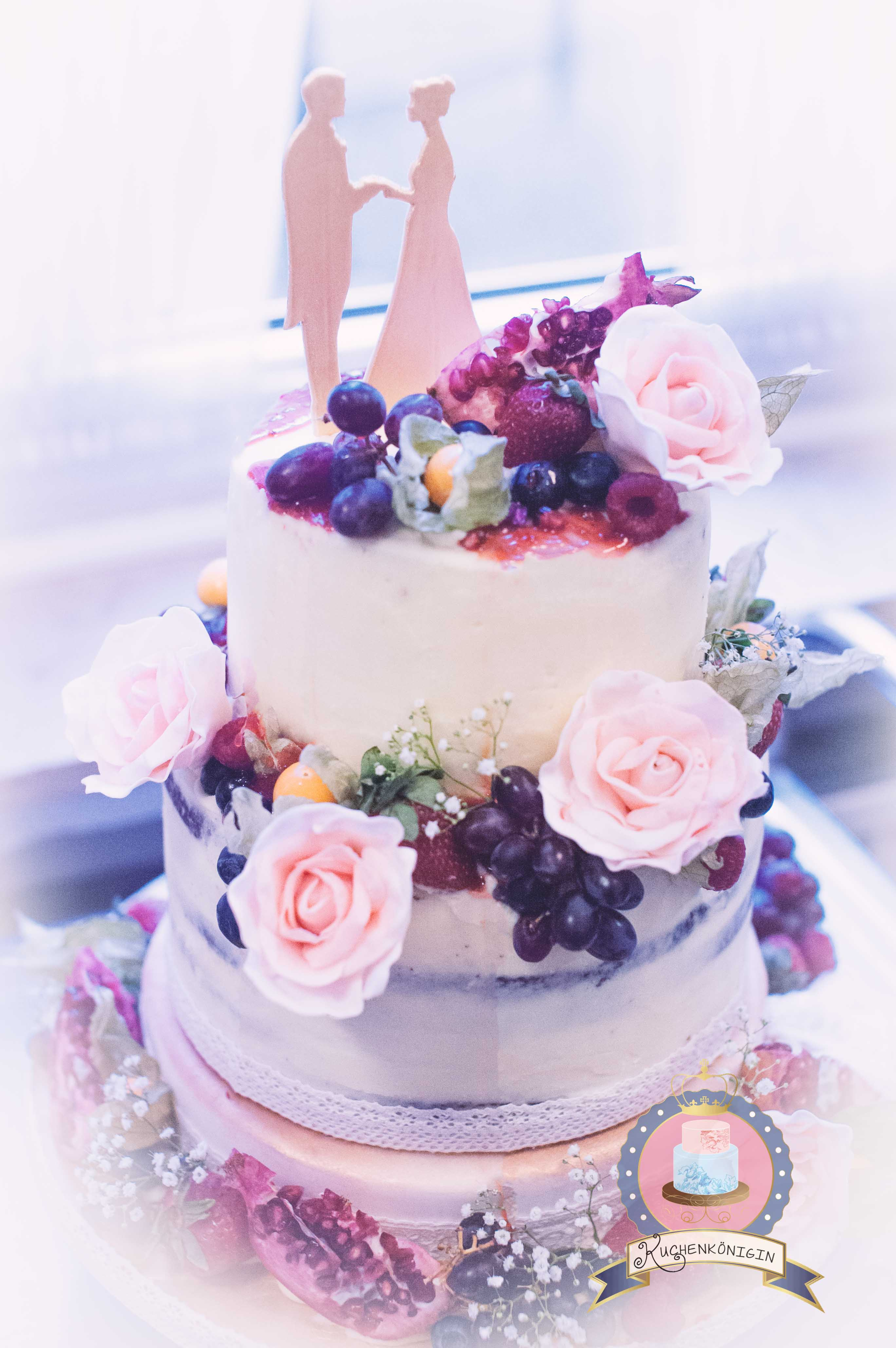 Romantisch Edle Naked Cake Torte Wedding Hochzeit