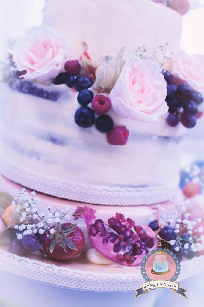 Romantisch Edle Naked Cake Torte Wedding Hochzeit Kuchenkonigin